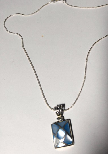 Other Sterling Silver Shell Pendant Necklace 18 in. A102 Image 4