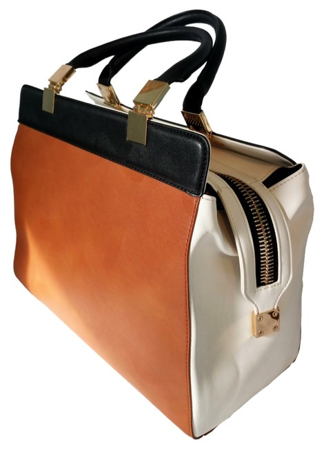 Item - Black Brown & White Satchel
