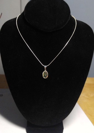 Other Sterling Silver Abalone Shell Pendant Necklace 18 in. A104 Image 4