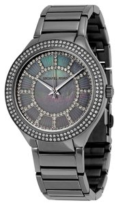 Michael Kors Gunmetal and Mother of Pearl with Crystals Dial Ladies Designer Watch