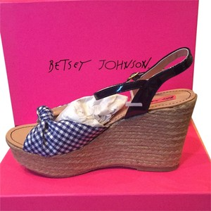 Betsey Johnson Checkered Blue Platforms