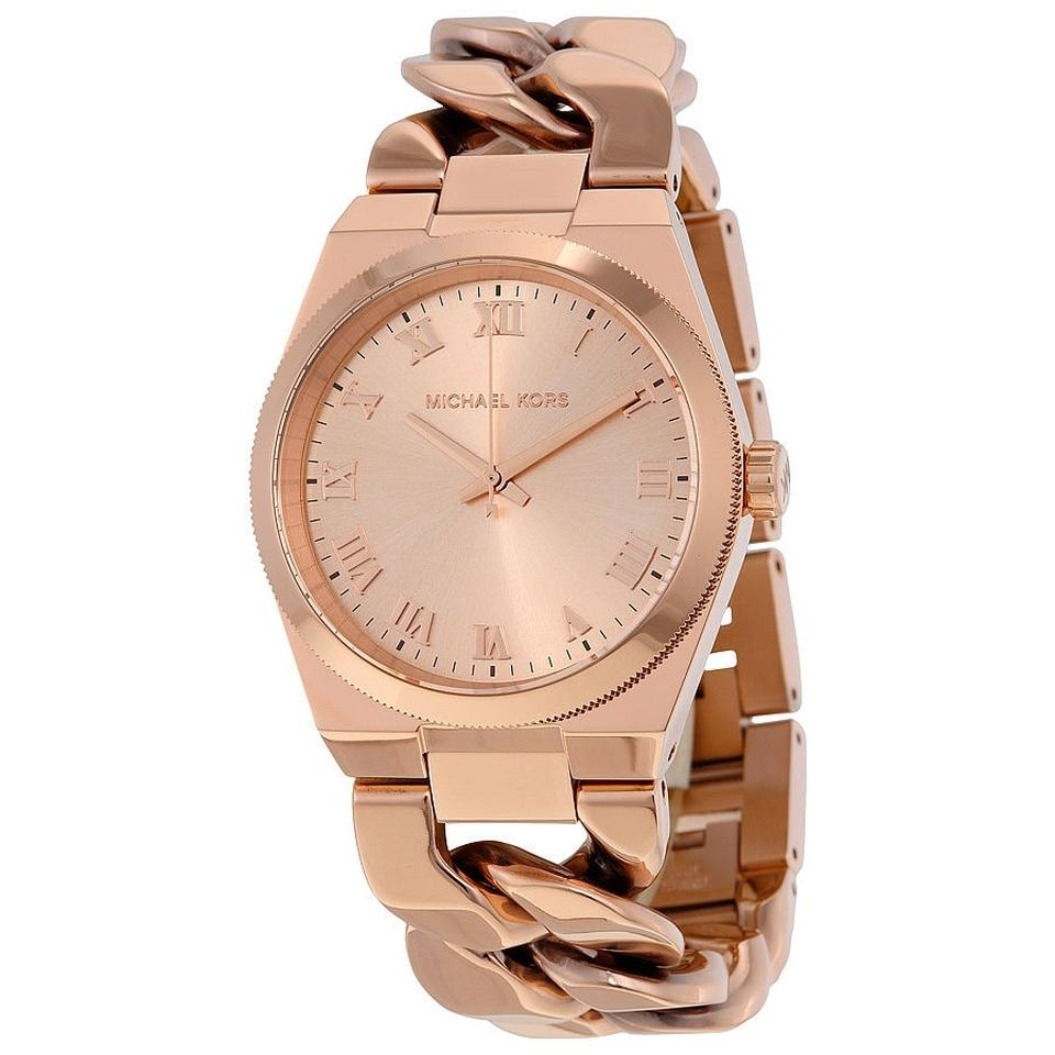 michael kors rose gold chain link fashion casual ladies watch 13 off retail. Black Bedroom Furniture Sets. Home Design Ideas