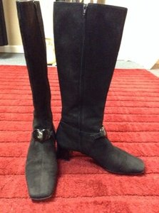 Moschino Vintage Leather Suede Black Boots