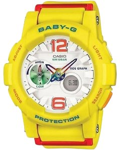 G-Shock G-Shock BGA180-9BCR Women's Yellow Analog/Digital Watch