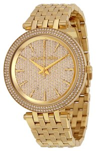 Michael Kors Crystal Pave Dial Gold tone Luxury Designer Watch