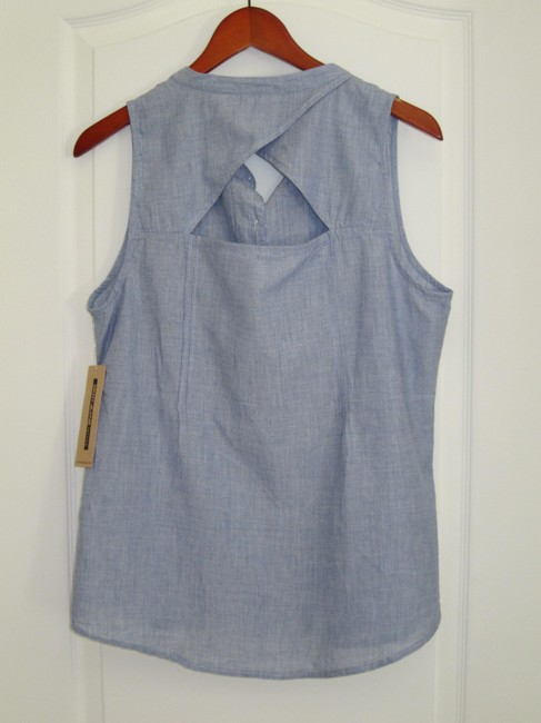 DKNY Petite Petite Large Pl Top Blue