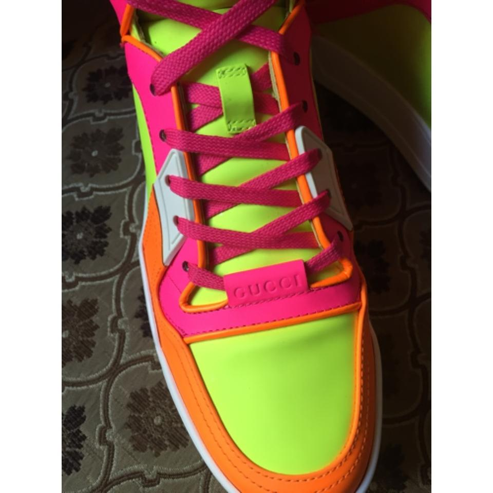 a775020bd Gucci Orange Pink White Lime Green New Basketball Hight Top Neon ...