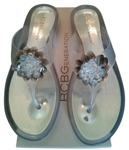 BCBGeneration Jelly Bcbg Bcbg Jelly Metallic Silver Sandals