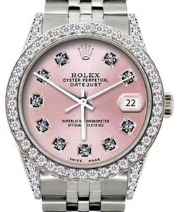 Rolex ROLEX MEN'S DATEJUST 5CT DIAMOND S/S WATCH