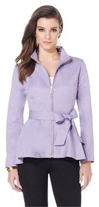 Iman Global Chic Lined Machine Wash Cold Line Dry Lavender Jacket