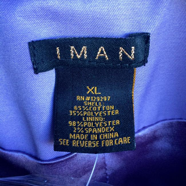 Iman Global Chic Lined Machine Wash Cold Line Dry Lavender Jacket Image 1