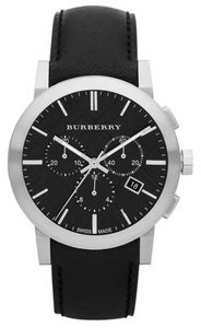 Burberry Burberry The City BU9356 Black Leather Chronograph Mens Watch