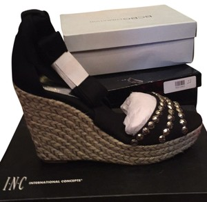 INC International Concepts Black Wedges