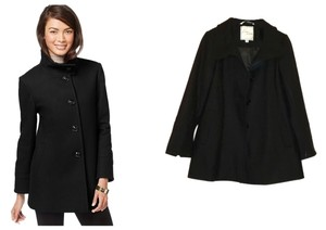 Larry Levine Stand Collar Single Breasted Pea Coat