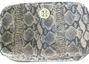 Tory Burch NWT Tory Burch Snakeskin Printed Makeup Cosmetic Bag
