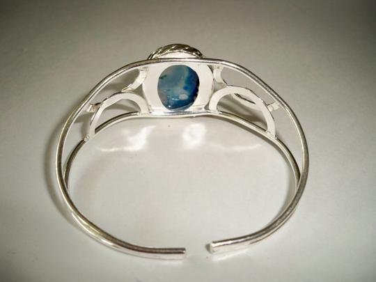 Other Blue Agate .925 Sterling Silver open cuff bracelet