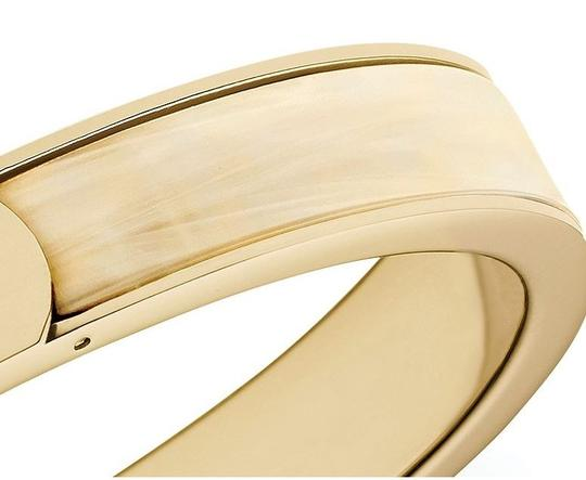 Michael Kors w/BONUS-LAST ONE..Gold Tone Horn Logo Bangle