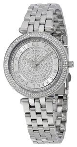 Michael Kors Silver tone Crystal Pave Ladies Designer Watch