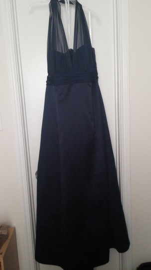 David's Bridal Marine Satin Empire Waist Ball Gown Dress