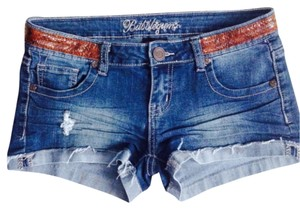 Bubblegum Cuffed Shorts Dark Wash