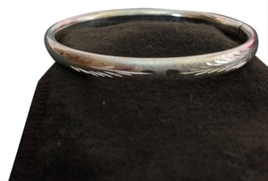 Unknown Sterling Silver Engraved Oval Bangle