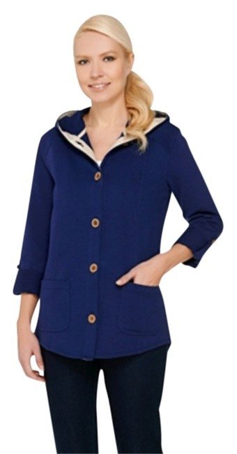 Preload https://img-static.tradesy.com/item/11656291/susan-graver-blue-knight-weekend-french-terry-roll-tab-sleeve-jacket-size-14-l-0-1-650-650.jpg
