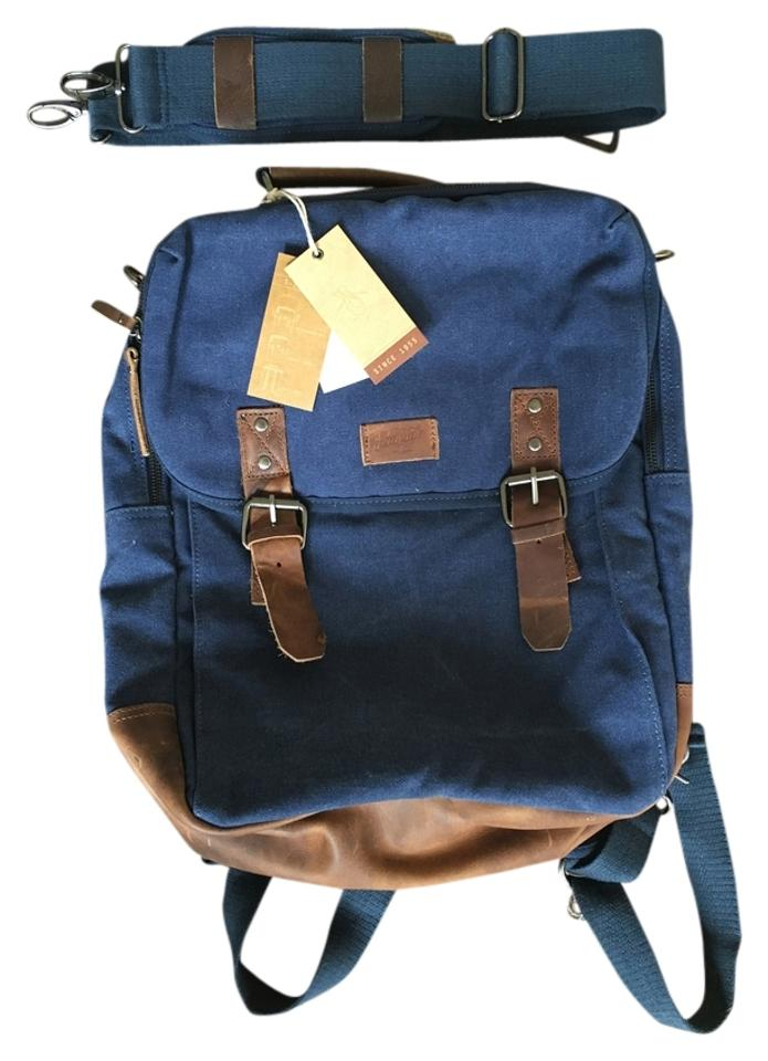 895ae6a8b1 Original Penguin by Munsingwear Convertible Blue Canvas Backpack ...