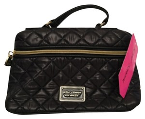 Betsey Johnson Black Gold Cosmetic Bag
