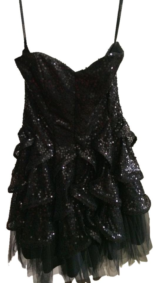 de98275ffd Betsey Johnson Sequin Ruffle Tulle Party Evening Strapless Flirty Prom  Night Out Fun Hot Girly Above ...