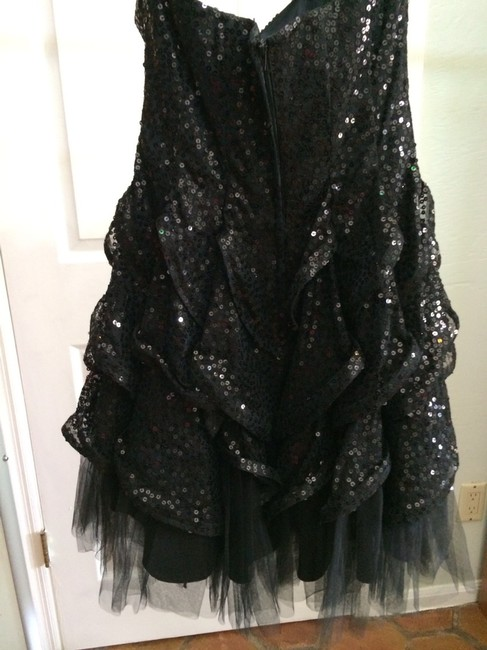 Betsey Johnson Sequin Ruffle Tulle Party Evening Strapless Flirty Prom Night Out Fun Hot Girly Above The Knee Dress