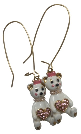 Preload https://img-static.tradesy.com/item/11656681/betsey-johnson-gold-white-pink-earrings-0-2-540-540.jpg