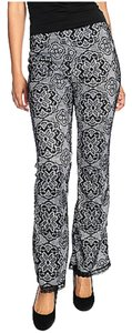 Countess Collection Fitted Machine Washable Flare Pants Black/Ivory