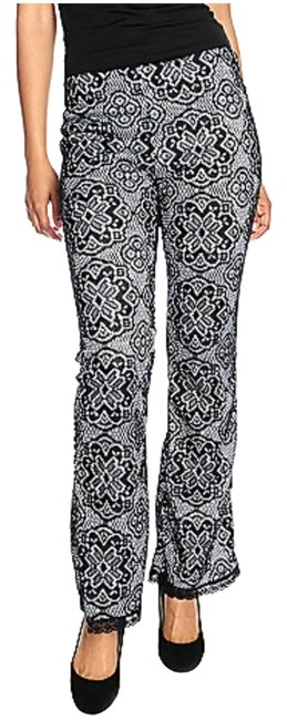 Countess Collection Fitted Machine Washable Flare Pants Black/Ivory Image 0