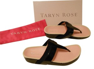 Taryn Rose August Contoured Footbed Black Sandals