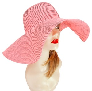 Other FASHIONISTA Nautical Pink Beach Sun Cruise Summer Large Floppy Hat