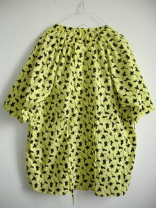 Other short dress yellow Print Printed Boxy Boxy Dvf Dvf Style Drawstring Drawstring Swim Cover Swimcover Oversize Oversized Waist Von on Tradesy