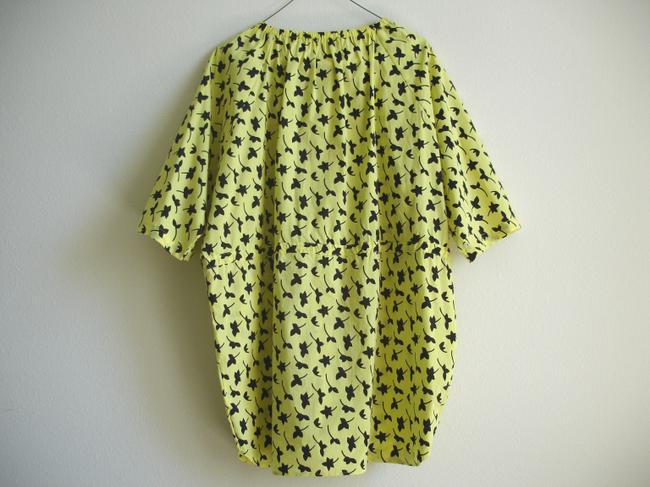 Other short dress yellow Print Printed Boxy Boxy Dvf Dvf Style Drawstring Drawstring Swim Cover Swimcover Oversize Oversized Waist Von on Tradesy Image 1