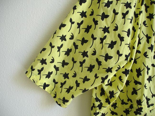 Other short dress yellow Print Printed Boxy Boxy Dvf Dvf Style Drawstring Drawstring Swim Cover Swimcover Oversize Oversized Waist Von on Tradesy Image 3