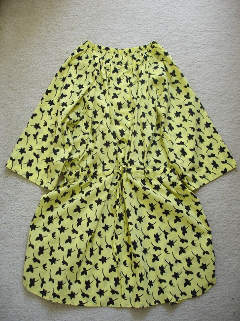 Other short dress yellow Print Printed Boxy Boxy Dvf Dvf Style Drawstring Drawstring Swim Cover Swimcover Oversize Oversized Waist Von on Tradesy Image 5