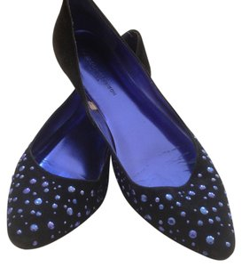 Sigerson Morrison for Target Black with blue studs Flats