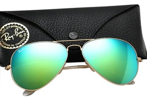 Ray-Ban Ray Ban Aviator RB3025 Sunglass 112/19 Matte Gold w Green Mirror Lens