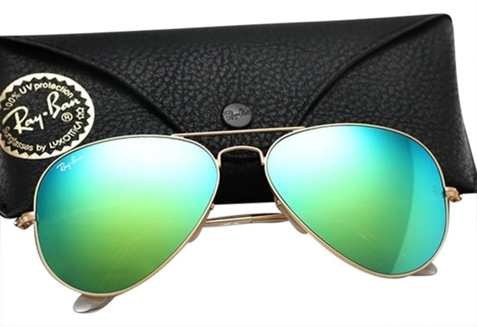 a0d537119e Ray-Ban Ray Ban Aviator RB3025 Sunglass 112 19 Matte Gold w Green Mirror