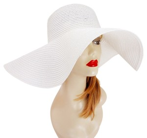 Other FASHIONISTA White Beach Sun Cruise Summer Large Floppy Hat