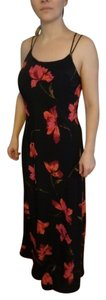 black with red roses Maxi Dress by Fastion Bug Summer Long
