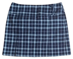 New York & Company Skirt Black White Plaid