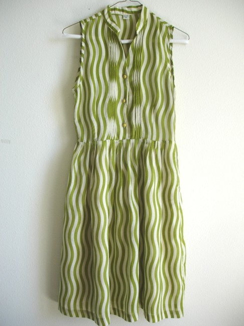 Other short dress lawn green Striped Striped on Tradesy Image 1