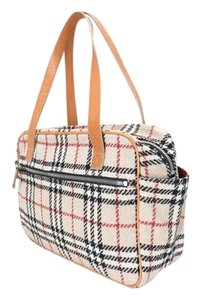 Burberry London Wool Boston Shoulder Bag