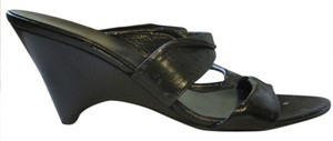 Miu Miu Black Wedges Wedges black leather Sandals