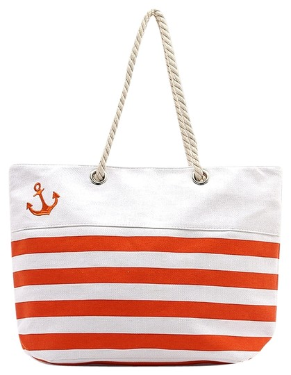 Preload https://img-static.tradesy.com/item/11658340/nautical-stripe-anchor-tote-coral-white-canvas-beach-bag-0-1-540-540.jpg