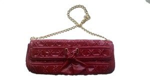 Isabella Fiore Leather Red Clutch